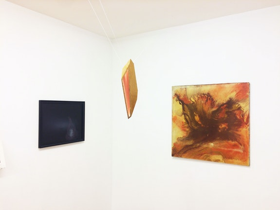Installation view: <em>Acquired on eBay (and from other surrogate sources)</em>, Mitchell Algus Gallery, 2020. Pictured: Nicolas Rule, Steve Keister, Ronald Mallory. Courtesy Mitchell Algus.
