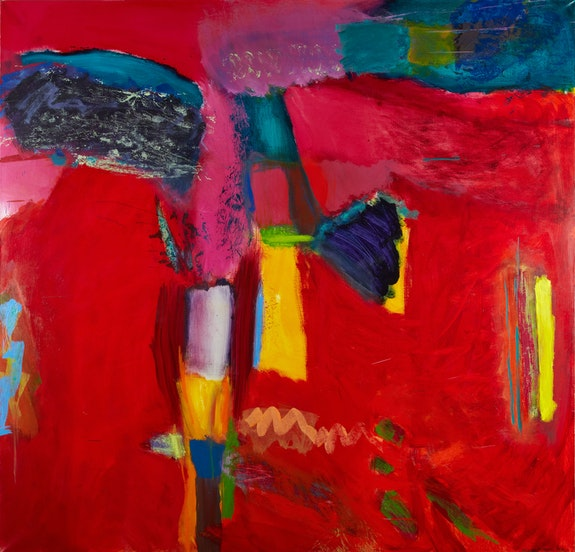 Emily Mason, <em>Semaphore</em>, 1991. Oil on canvas 54 1/2 x 56 1/2 inches.