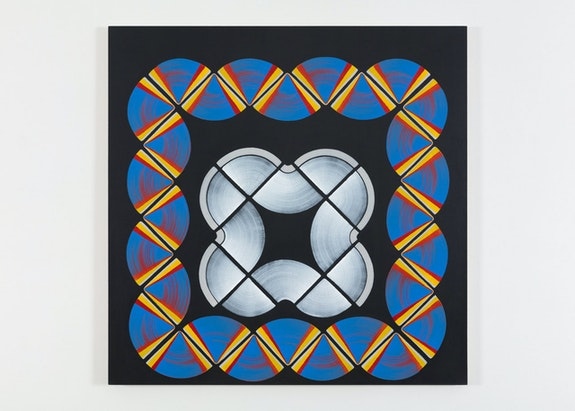 Dan Walsh, <em>Record II</em>, 2019. Acrylic on canvas, 55 x 55 inches. Photo: Steven Probert. © Dan Walsh. Courtesy Paula Cooper Gallery, New York.