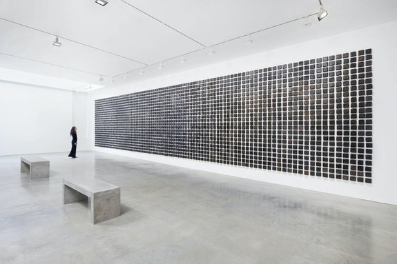 Installation view: <em>Teresa Margolles: El asesinato cambia el mundo / Assassination changes the world</em>, James Cohan, New York. © Teresa Margolles 2020. Image courtesy the artist and James Cohan, New York. Photo: Phoebe d'Heurle.