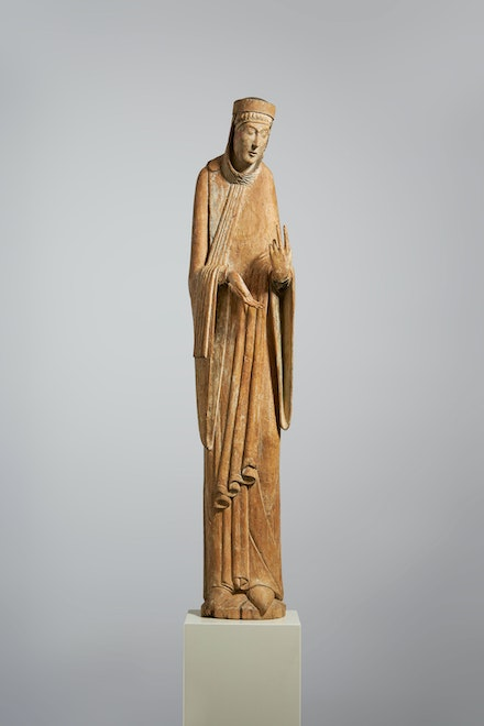 A Standing Virgin, Meuse Valley, c. 1150. Courtesy Luhring Augustine and Sam Fogg.