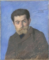 Jean-Louis Forain, <em>Joris-Karl Huysmans</em>, 1878. Pastel, 21 5/8 x 17 1/2 inches. Musée d'Orsay, Paris. Photo © RMN-Grand Palais (musée d'Orsay) / Hervé Lewandowski.
