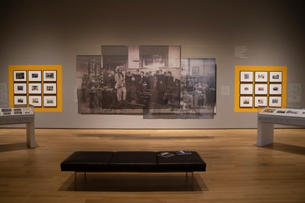 Installation view: <em>School Photos and Their Afterlives</em>, Hood Museum of Art, Dartmouth College, Hanover, New Hampshire. Photo: Brian Wagner.