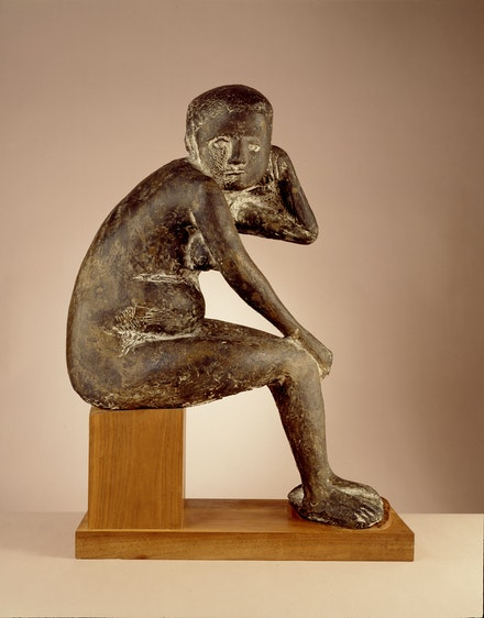 Marino Marini, <em>Susanna</em>, 1943, cast 1946-51. Bronze, 28 7/8 x 21 1/8 x 10 5/8 inches. Photo: Lee Stalsworth. © 2019 Artists Rights Society (ARS), New York / SIAE, Rome.