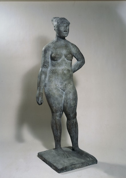 Marino Marini, <em>Pomona</em>, 1945. Bronze, 63 3/4 x 26 x 20 7/8 inches. Fondazione Marino Marini - Pistoia. © 2019 Artists Rights Society (ARS), New York / SIAE, Rome.