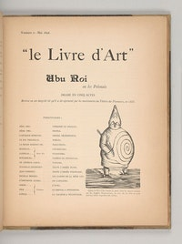 "Alfred Jarry, ""Ubu roi,"" in Livre d'Art no. 2 (April 1896). The Morgan Library & Museum, gift of Robert J. and Linda Klieger Stillman, 2017."