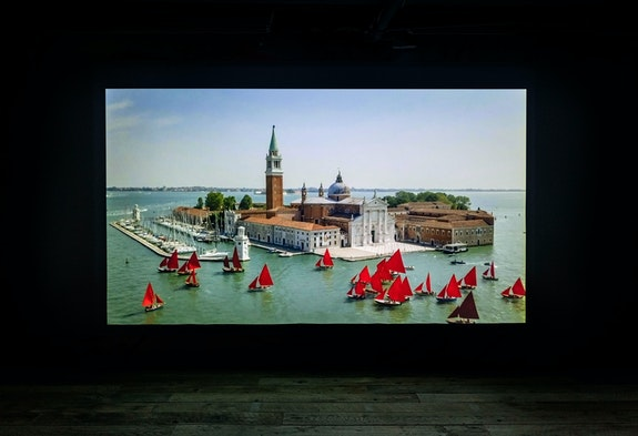 Installation view: <em>Melissa McGill: Red Regatta: riflessi</em>, TOTAH, New York. Courtesy TOTAH.