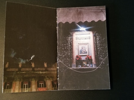 "Chiara Ambrosio <em>As Far As The Eye Can Travel</em>, Issue #26, ""Napoli 18"" Street shrine centerfold. Photo: Author. Reproduced with permission of Chiara Ambrosio"