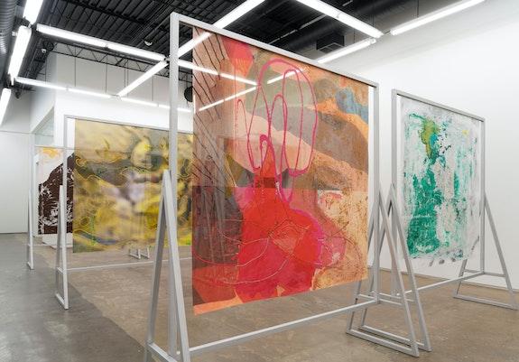 Installation view: <em>Candida Alvarez: Estoy Bien</em>, Monique Meloche Gallery, Chicago, 2020. Courtesy the artist and Monique Meloche Gallery, Chicago. RCH Photography.