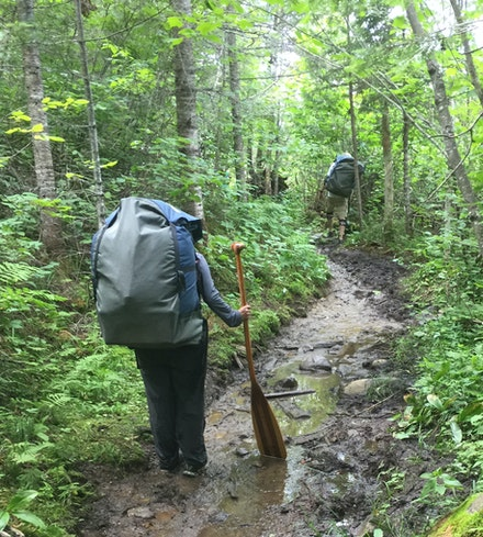 Portage trail in the Boundary Waters Canoe Area Wilderness, northern Minnesota, 2016. Photo by the author.