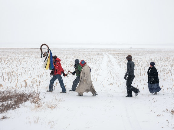 Mitch Epstein, <em>Standing Rock Prayer Walk, North Dakota, 2018</em>. Courtesy Sikkema Jenkins & Co., New York.