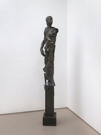 Jonathan Silver,<em> Diana</em>, 1987. Bronze, 87 x 10 1/2 x 13 inches. Courtesy Nicole Klagsbrun Gallery.
