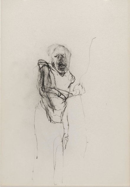 Jonathan Silver,<em> Drawing #44</em>, c.1992. Graphite on paper, 7 x 10 inches. Courtesy Nicole Klagsbrun Gallery.
