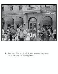 Fred Londier,<em> The Double Articulation of Disneyland</em> [detail], 1974. 72 panels. Courtesy the artist.