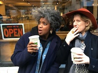 <em>Best Life</em> actors (left to right) Ayesha Jordan and Erin Anderson. Photo: Melisa Tien.