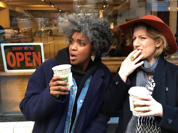 <em>Best Life</em> actors (left to right) Ayesha Jordan and Erin Anderson. Photo: Melisa Tien.