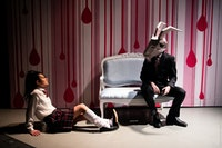 A scene from Haruna Lee's <em>Suicide Forest</em>, a production of The Bushwick Starr in collaboration with Ma-Yi Theatre Company. Photo: Maria Baranova.