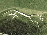 Satellite view of Uffington White Horse, Oxfordshire, England. Image in the public domain.