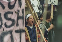 Protest in Rochester, NY, March 2003. Photo by the author.