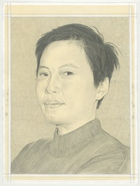Portrait of Jessamine Batario, pencil on paper by Phong H. Bui.