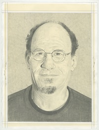 Portrait of Mark Bloch, pencil on paper by Phong H. Bui.