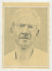 Portrait of Mitch Epstein, pencil on paper by Phong H. Bui.