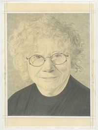 Portrait of Gladys Nilsson, pencil on paper by Phong H. Bui.
