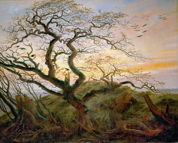 Caspar David Friedrich, <em>The Tree of Crows</em>, c. 1822. Oil on canvas, 23 1/4 x 28 3/4 inches. Collection of the Louvre, Paris.