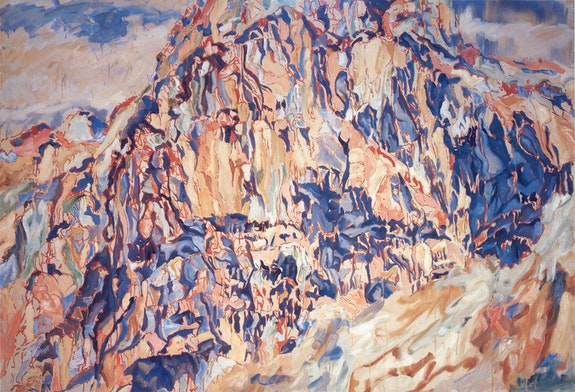 Philip Pearlstein, <em>Positano #1</em>, 1960. Oil on canvas, 64 x 96 inches. Courtesy Betty Cuningham Gallery.