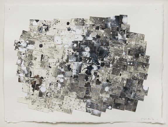 Jack Whitten, <em>Broken Grid VIII</em>, 1996. Sumi ink and acrylic on paper collage, 11 1/4 x 15 inches. © Jack Whitten Estate. Courtesy the Jack Whitten Estate and Hauser & Wirth. Photo: Genevieve Hanson.
