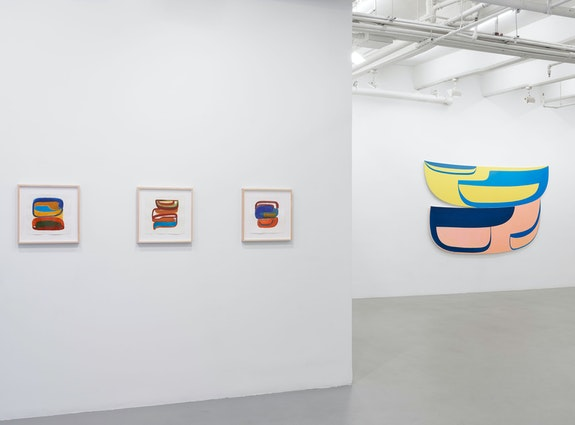 Installation view: <em>Joanna Pousette-Dart</em>, Lisson Gallery, New York, 2020. © Joanna Pousette-Dart. Courtesy Lisson Gallery.