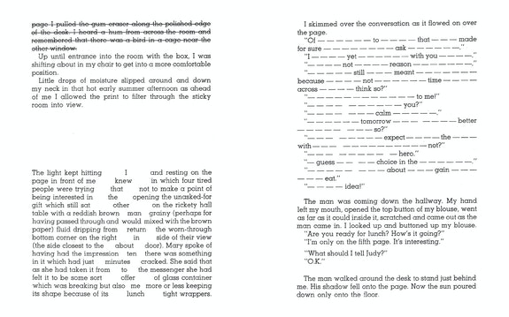 Excerpt from <em>WORD RAIN</em>, reproduced in <em>The Saddest Thing Is That I Have Had to Use Words: A Madeline Gins Reader </em>(Siglio, 2020).