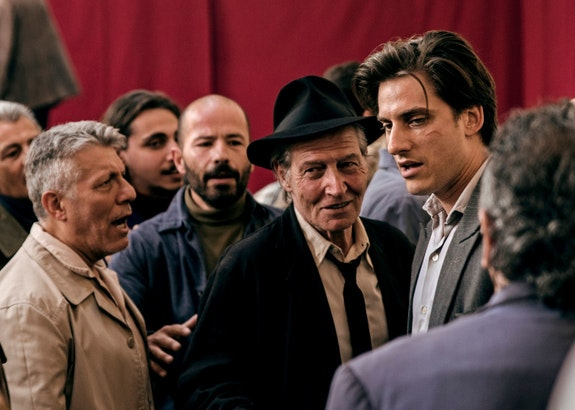 Carlo Cecchi and Luca Marinelli in a scene from <em>Martin Eden</em>. Photo: Francesca Errichiello, courtesy Kino Lorber.