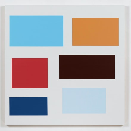 Tom McGlynn, <em>Control Group 3</em>, 2019. Acrylic on birch panel, 36 x 36 inches. Courtesy Rick Wester Fine Art.