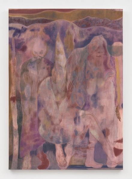 Maja Ruznic, <em>Ukazanje</em>, 2019. Oil on canvas, 80 x 57 inches. Courtesy Hales Gallery, London and New York. Photo: Stan Narten.