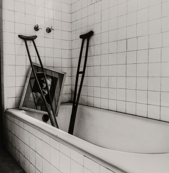 Graciela Iturbide, <em>El Baño de Frida, Coyoacán</em>, Ciudad de México (Frida's Bathroom, Coyoacán, Mexico City), 2005. Gelatin silver print, 14 1/2 x 14 1/4 inches. © Graciela Iturbide. Courtesy the artist.