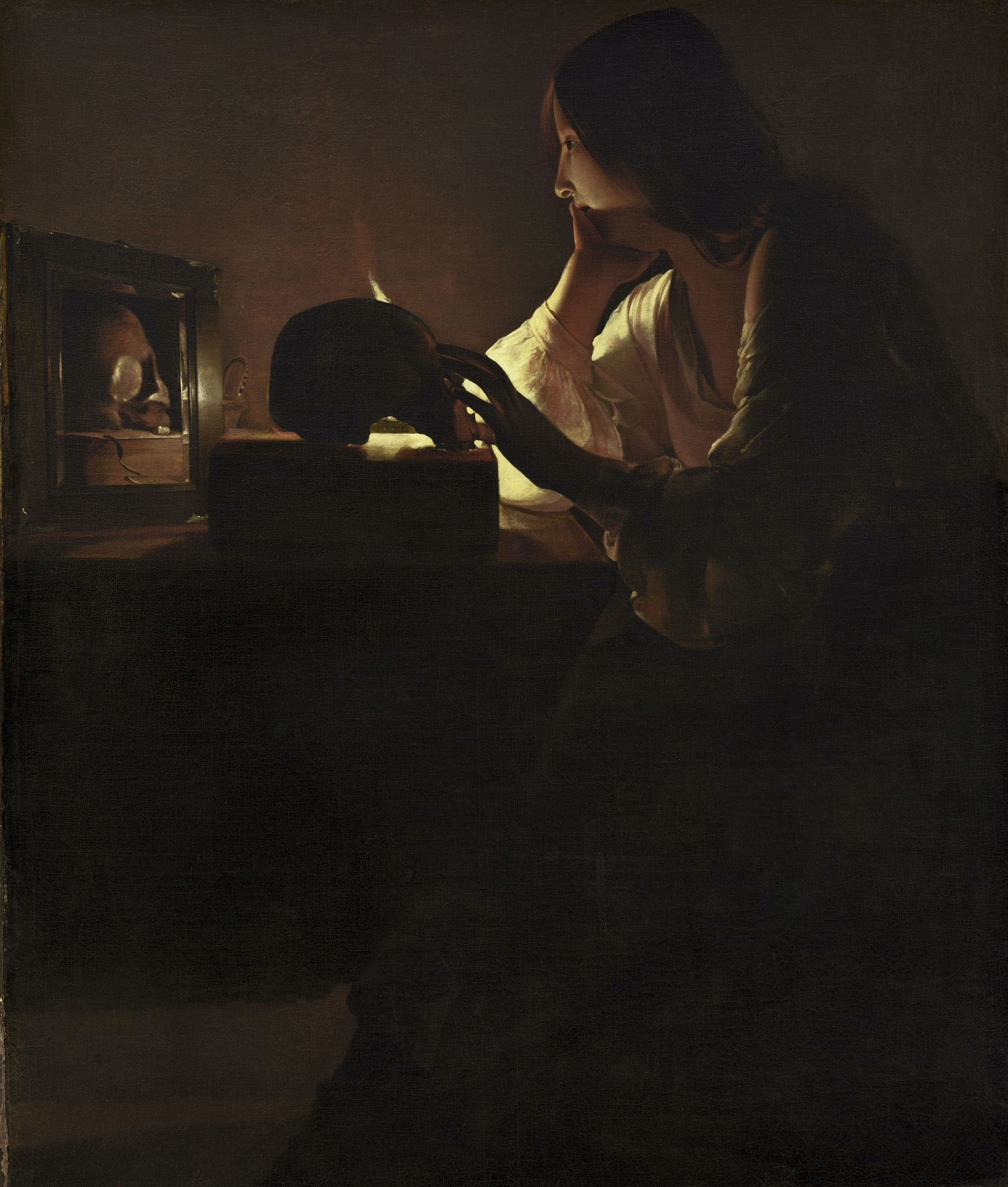 Georges de La Tour, <em>The Repentant Magdalen</em>, c.1635–1640. Oil on canvas, 44 1/2 x 36 1/2 inches. National Gallery of Art, Washington, D.C.