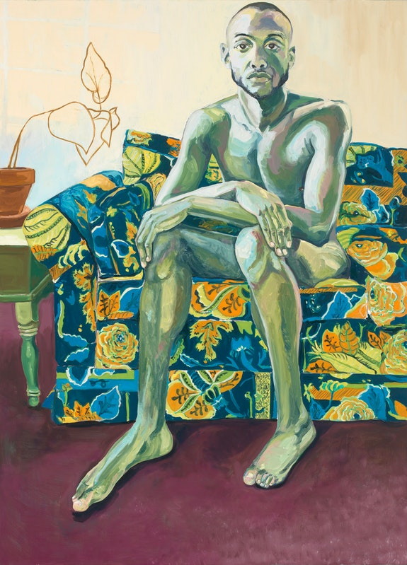 Jordan Casteel, Jiréh, 2013. Oil on canvas, 72 x 52 inches. Collection Jody Robbins. Courtesy the artist and Casey Kaplan, New York.