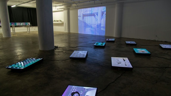 Installation View: <em>Jennifer West: Future Forgetting</em>, JOAN, Los Angeles. Photo: David Matorin.