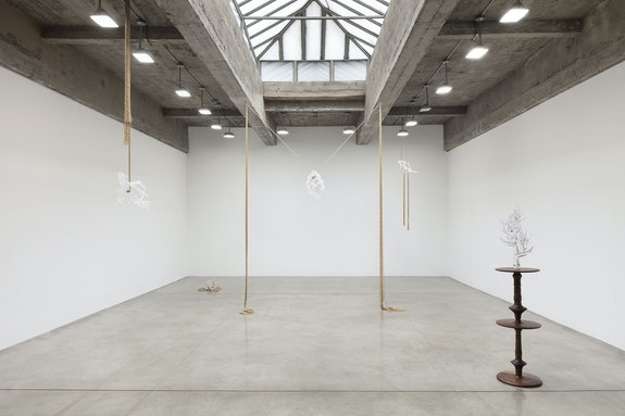 <p>Installation view: <em>Kelly Akashi: Mood Organ</em>, Tanya Bonakdar Gallery, New York, 2020. Photo: Pierre Le Hors. Courtesy the artist and Tanya Bonakdar Gallery, New York / Los Angeles.</p>
