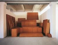 Imi Knoebel, <em>Raum 19</em> [Room 19], 1968. Hardboard, wood, stretcher. Nic Tenwiggenhorn.