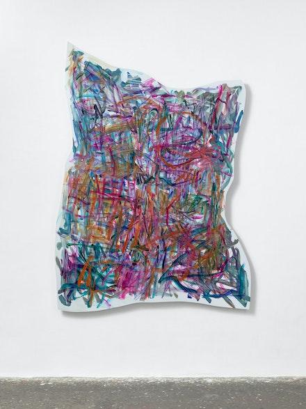 <p>Imi Knoebel, <em>Figura Psi</em>, 2019. Acrylic, aluminum, 239 x 173 x 4.5 cm, box (picture + HL) 219 x 279 x 25 cm. Ivo Faber. </p>
