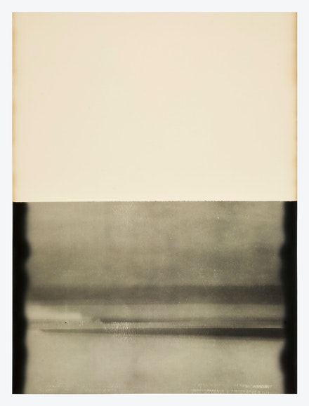 Alison Rossiter, Gevaert Gevaluxe Velours, exact expiration date unknown, ca. 1930s, processed 2020 (#1). Gelatin Silver Print, 70 5/8 x 53 7/8 inches. Courtesy Yossi Milo, New York.