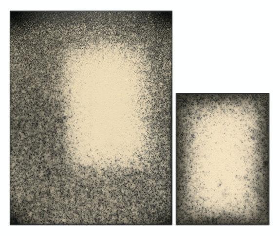 Alison Rossiter, Density 1930s, 2018, Two Gelatin Silver Prints, 13 5/8 x 15 1/2 inches. Courtesy Yossi Milo, New York.