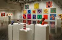 Installation view: Totally Dedicated: Leonard Contino, 1940-2016, Samuel Dorsky Museum of Art, SUNY New Paltz, NY.  Photo: Bob Wagner/Samuel Dorsky Museum of Art.