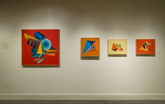 Installation view: Totally Dedicated: Leonard Contino, 1940-2016, Samuel Dorsky Museum of Art, SUNY New Paltz, NY. Photo: Bob Wagner/Samuel Dorsky Museum of Art.