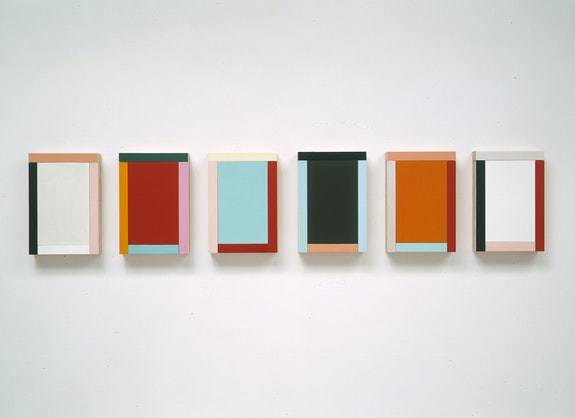 Imi Knoebel, <em>Grace Kelly III 1–6</em>, 1994. Acrylic, wood, 6 pieces, each 250 x 170 x 9 cm. Nic Tenwiggenhorn.
