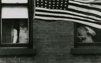 Robert Frank, <em> Parade - Hoboken, New Jersey, </em> 1955. © Andrea Frank Foundation, from <em> The Americans </em>
