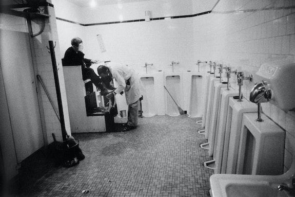 Robert Frank, <em> Men's room, railway station, Memphis, Tennessee, </em> 1956. © Andrea Frank Foundation, from <em> The Americans </em>
