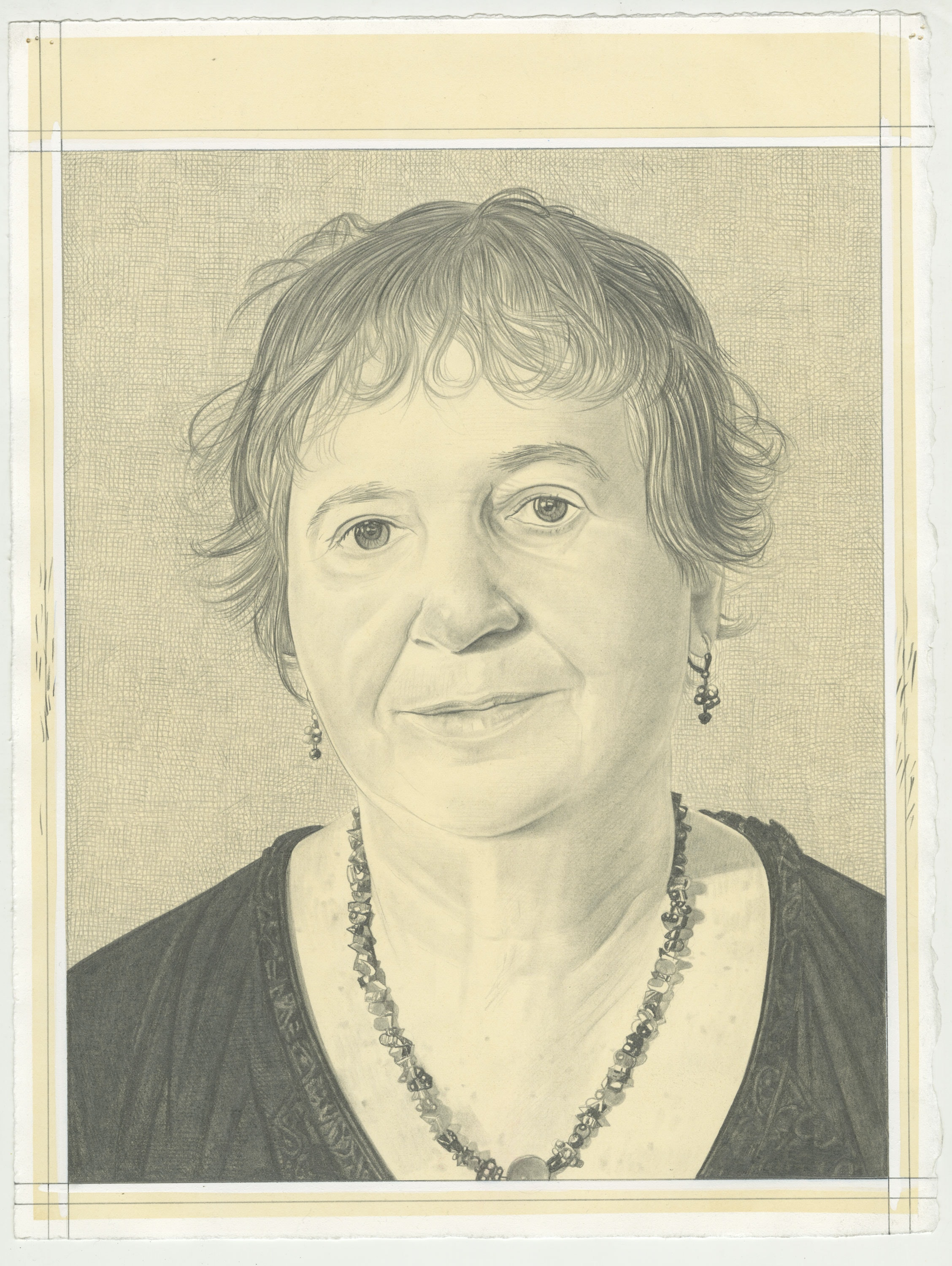 Portrait of Susan Bee, pencil on paper by Phong H. Bui.